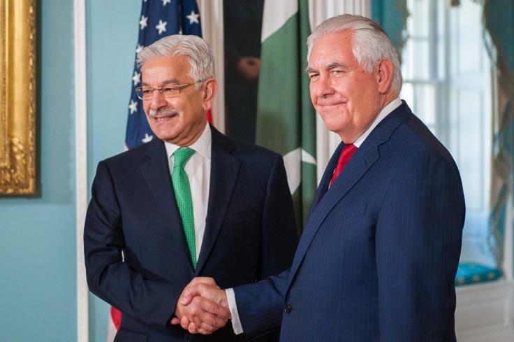 KhawajaAsif& Tillerson Oct4 2017 US Stt dept 37495210641_19243f5afb_o